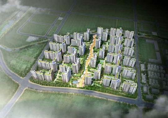 현대건설, 풍무역 인근 3500여가구 대단지