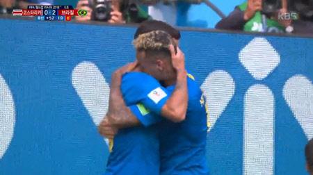[월드컵] 브라질, 코스타리카 꺾으며 대회 첫 승...16강 파란불