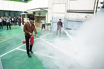 롯데건설, 잠원동 본사 건물에서 화재대피훈련 실시