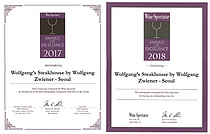 울프강 스테이크하우스 코리아, 와인 스펙테이터 레스토랑 어워드 2년 연속 수상