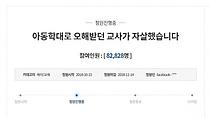 `보육교사 억울함 풀어달라`...청와대 청원글 8만명 동의
