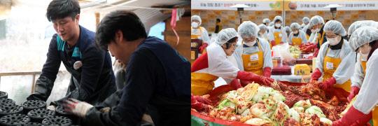 유통업계, 연말 맞이 연탄·김장 김치 나눔 행사 릴레이