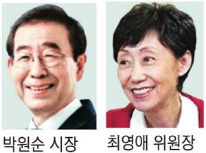박원순 시장-최영애 인권위원장, 내일 `인권의 미래` 주제 대담