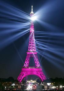 `130살` 에펠탑 레이저쇼 장관