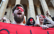 조지아 反러 시위...양국간 항공사 취항 중단