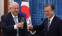 건배하는 한-이스라엘 대통령