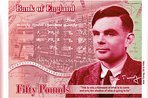'컴퓨터·AI의 아버지' 앨런 튜링, 영국 새 지폐 주인공으로
