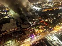 필리핀 6.4 강진에… 불길 치솟는 쇼핑몰