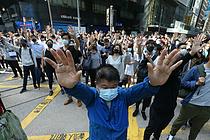 홍콩, 반중시위에 3분기 3.2% 역성장... 10년만에 경기침체