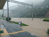 [속보]영동선 영주∼동해 구간도 열차 운행 중단