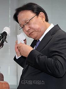 [포토] 마스크 벗는 박근희 CJ대한통운 대표이사