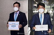 민주당 원내대표 2파전…윤호중-박완주 공개토론
