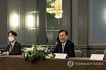"""미 """"한미일, 한반도 비핵화 협력 재확인…대북결의 완전이행 필요 합의"""""""