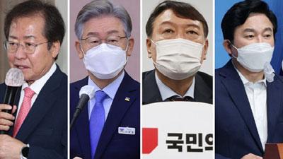 대선 가상 양자대결…윤석열·홍준표·원희룡, 셋 다 이재명 꺾었다